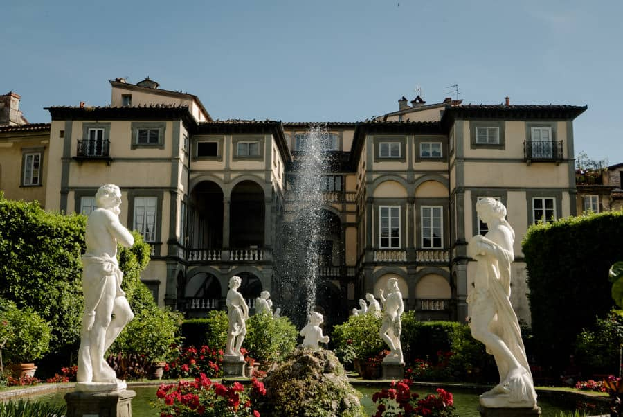 Palazzo Pfanner with its garden in Lucca