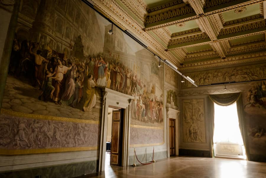 Frescos in the major hall at Palazzo Ducale Lucca