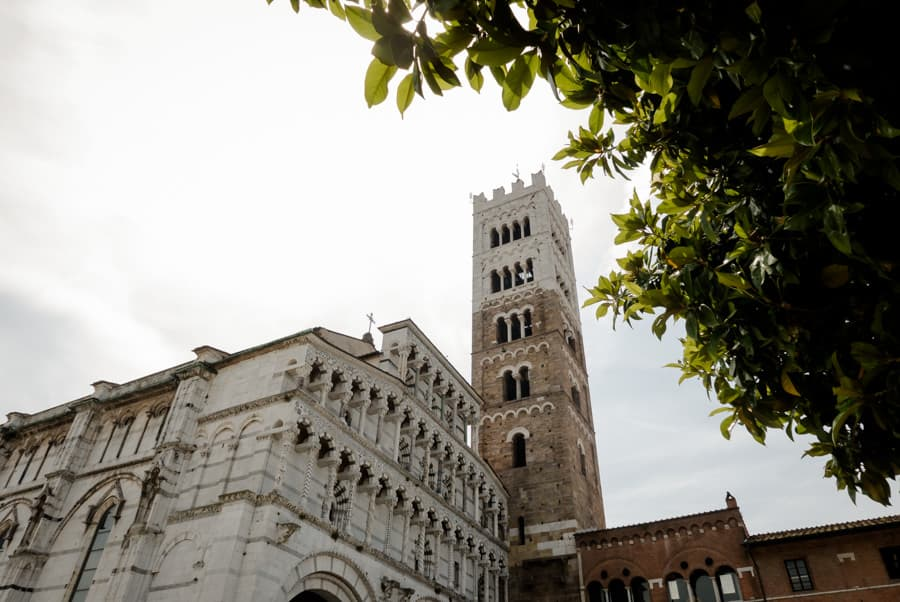 View of the Cathedral of San Martino Lucca