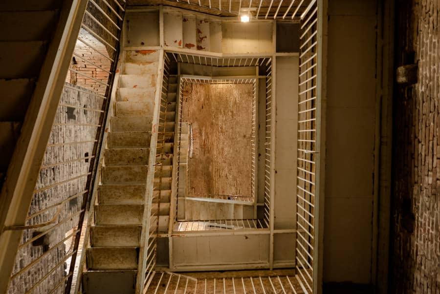 Stairs inside Torre Guinigi Lucca