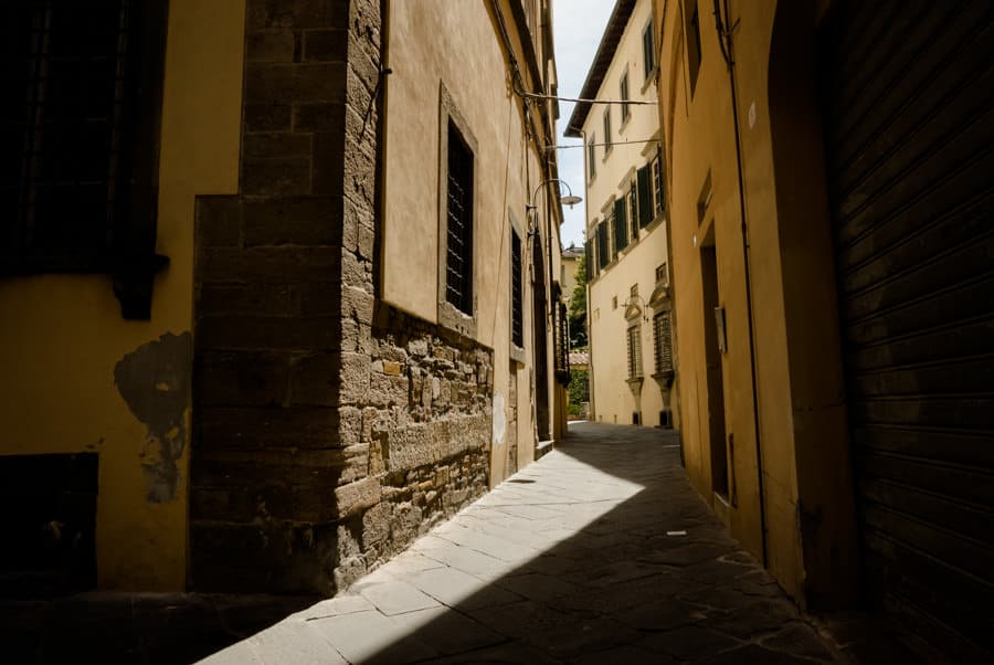 Light on the streets of Lucca