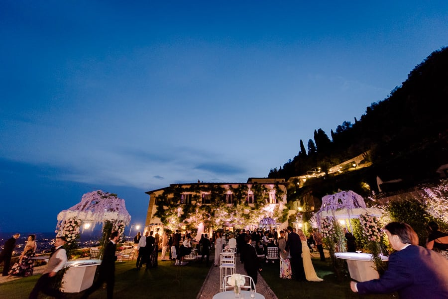 villa san michele wedding decorations