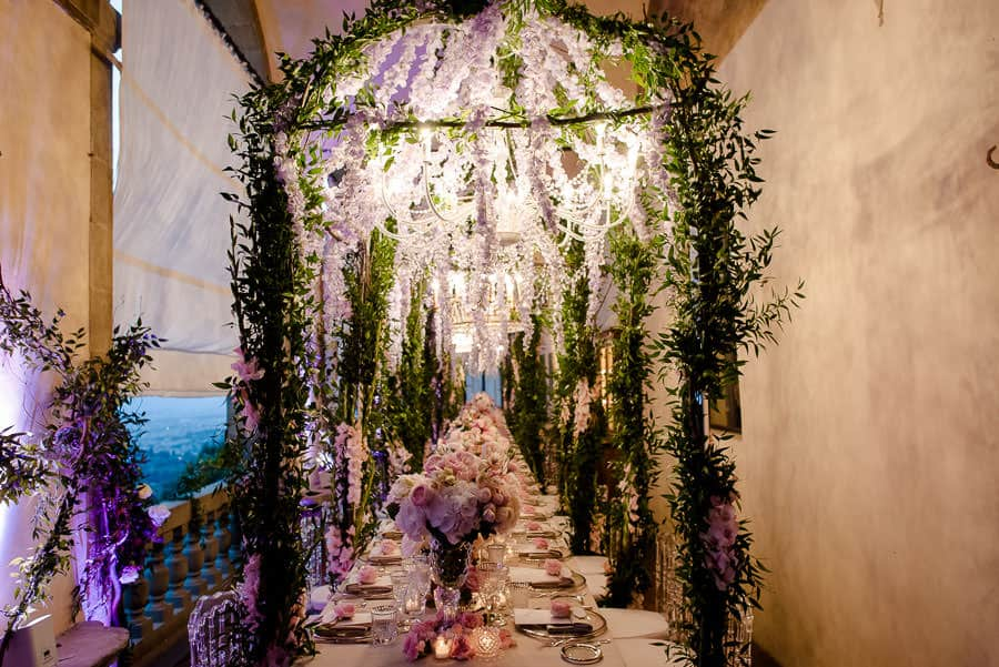 villa san michele wedding tables