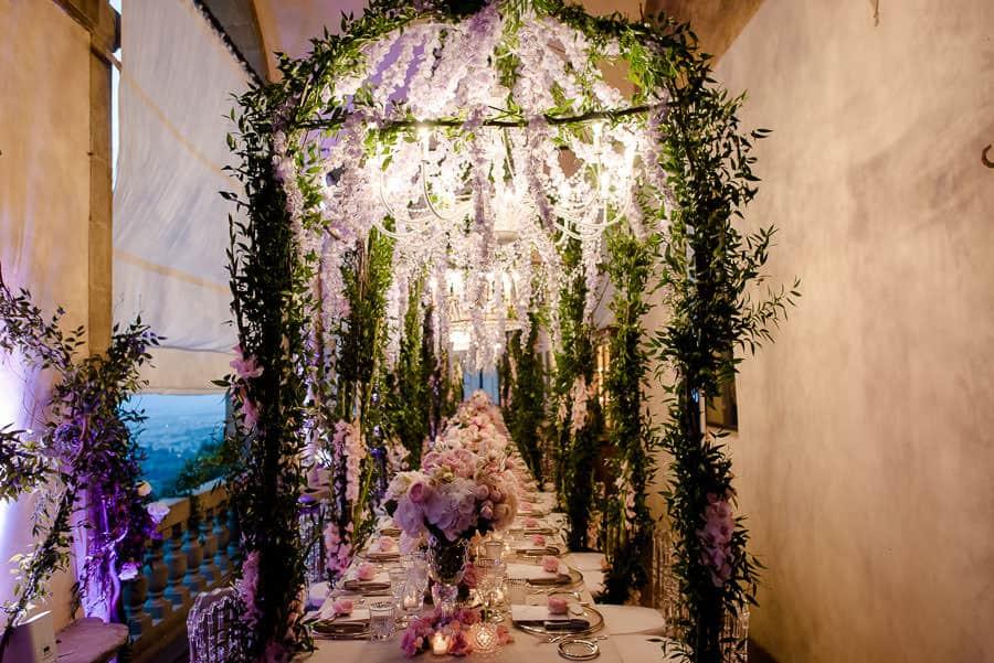 villa san michele wedding tables