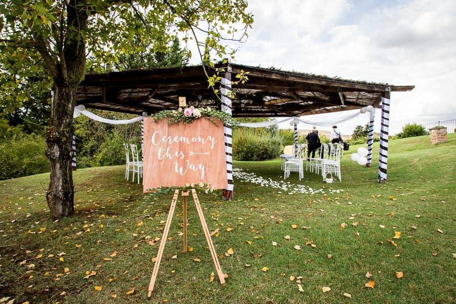 wedding ceremony spot garden borgo della meliana