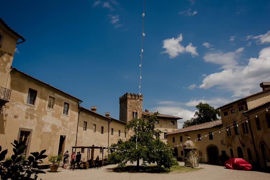 Castello di Santa Maria Novella courtyard