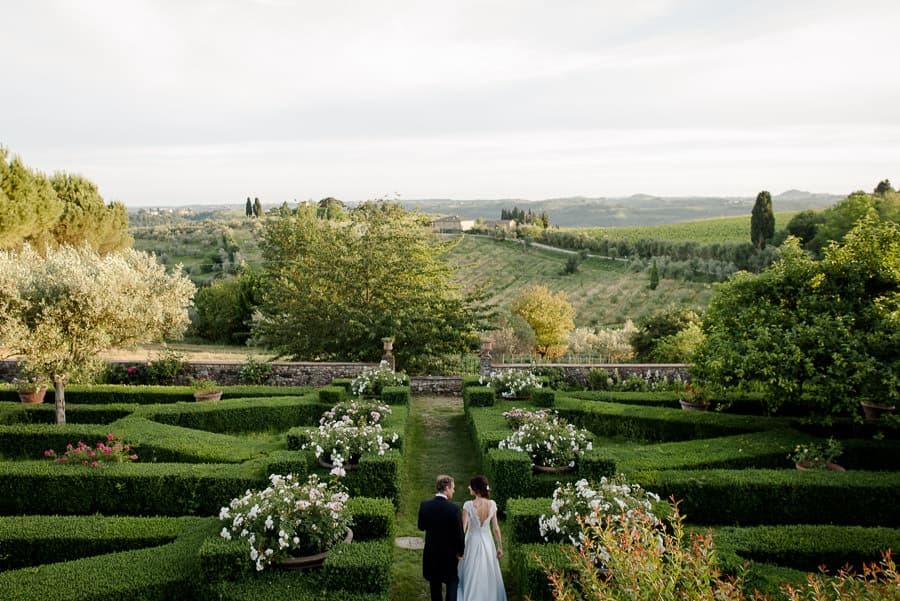 villa le corti italian garden