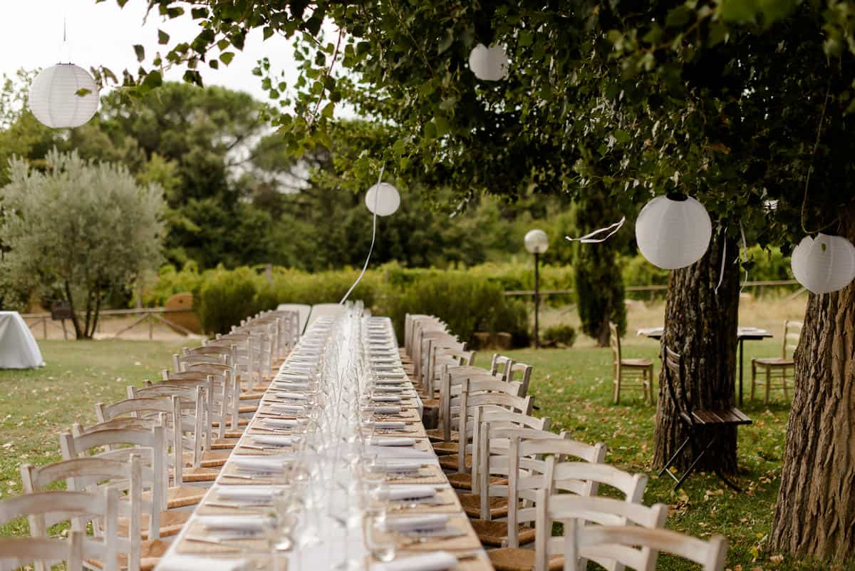 Fattoria di Corsignano wedding table