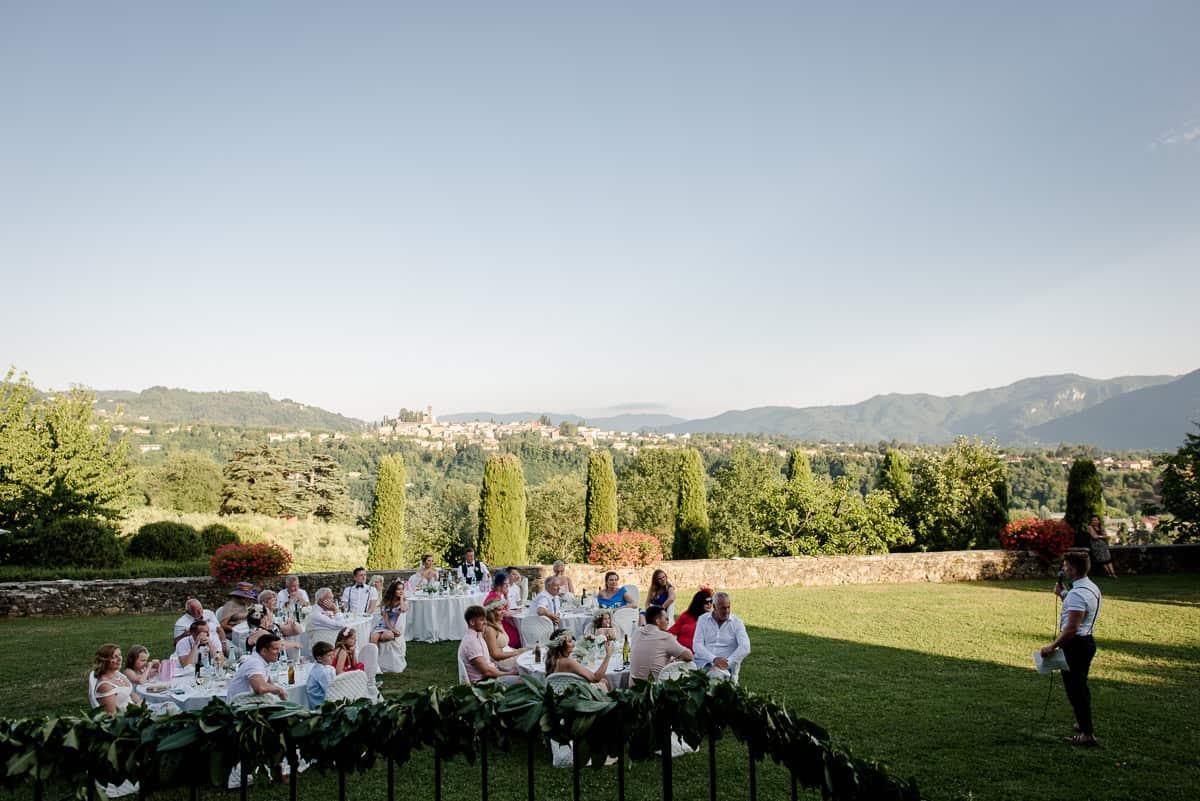 i cedri wedding dinner in the garden
