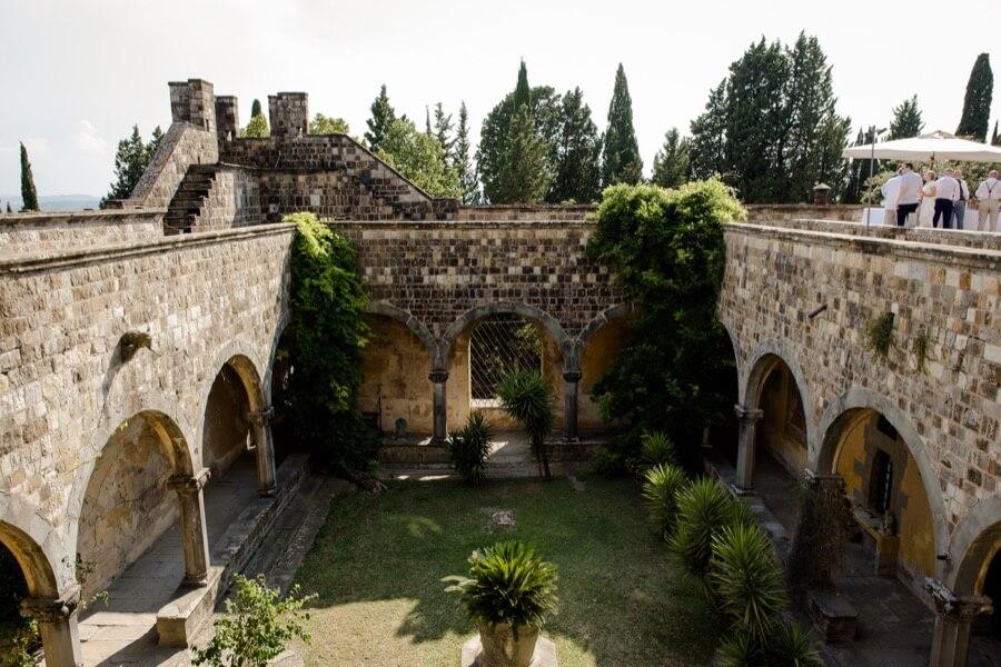 vincigliata castle fiesole florence courtyard