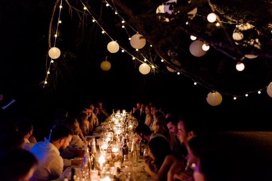 wedding dinner candle light