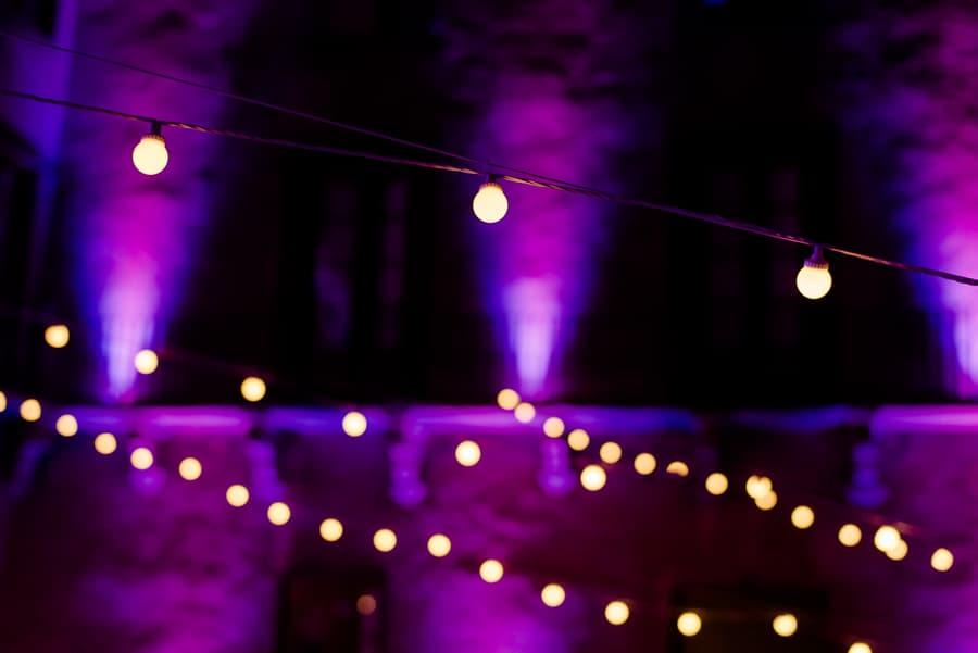 wedding lamps detail