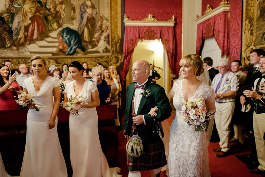 here comes the bride in the red hall palazzo vecchio