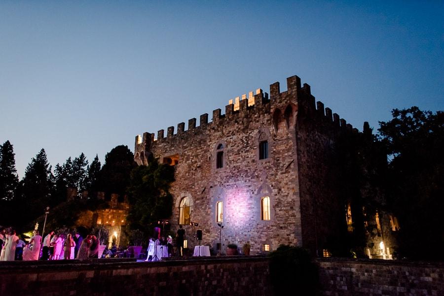 Vincigliata castle night photo with lights