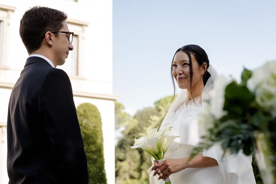 ceremony moment at villa cora florence