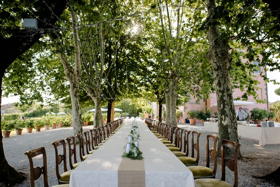 Table setting at villa daniela grossi lucca