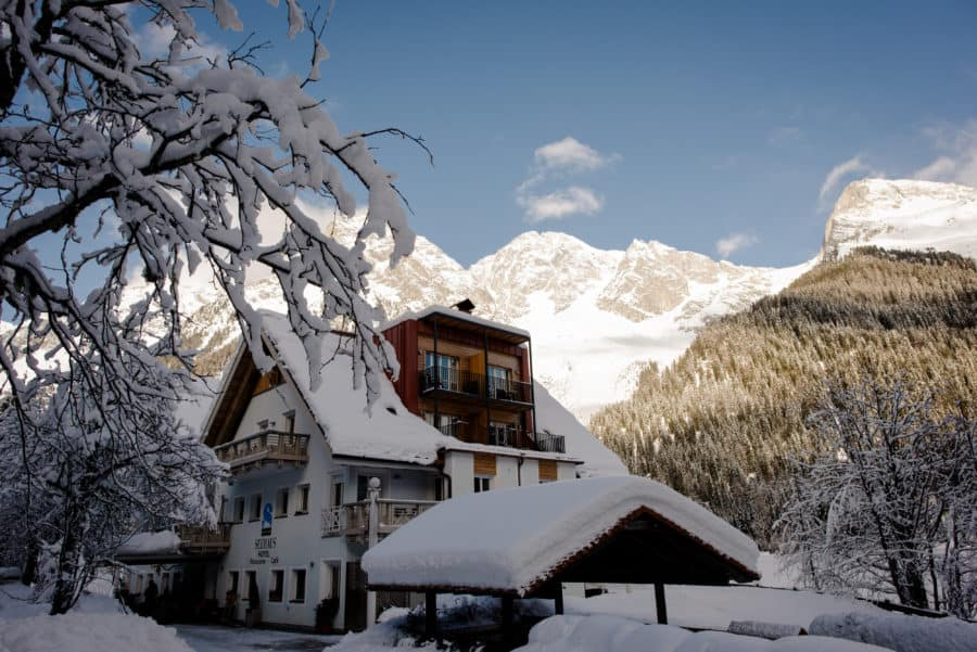 seehaus anterselva lake venue winter wedding in italy