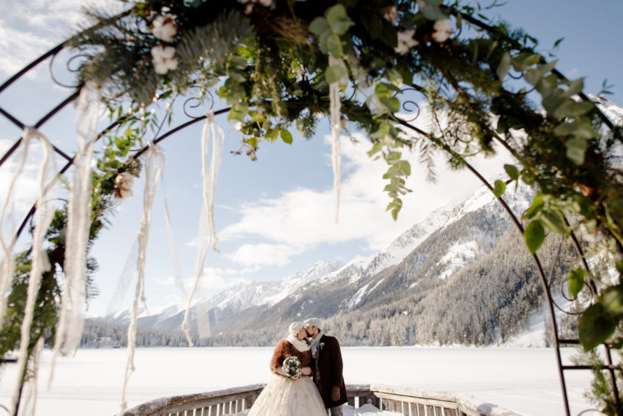 wedding ceremony anterselva lake sud tirol Italy