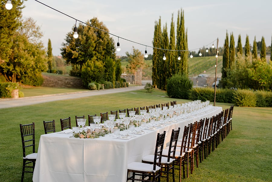 Tuscany Wedding Styling Ideas and Inspiration dinner setting
