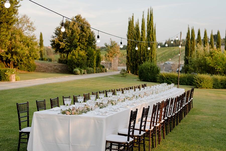 Tuscany Wedding Styling Ideas and Inspiration dinner setting