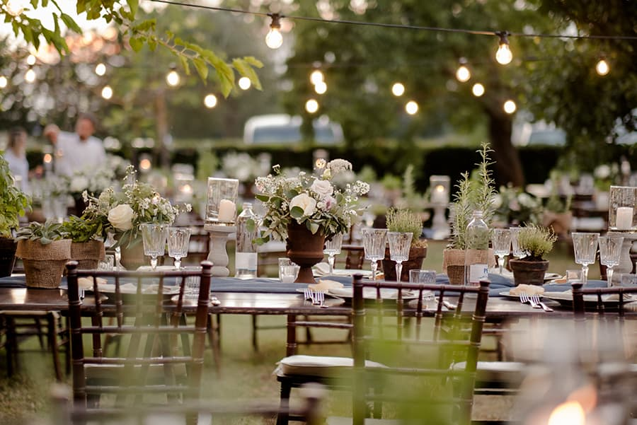 Tuscany Wedding Styling Ideas and Inspiration lighting for dinner