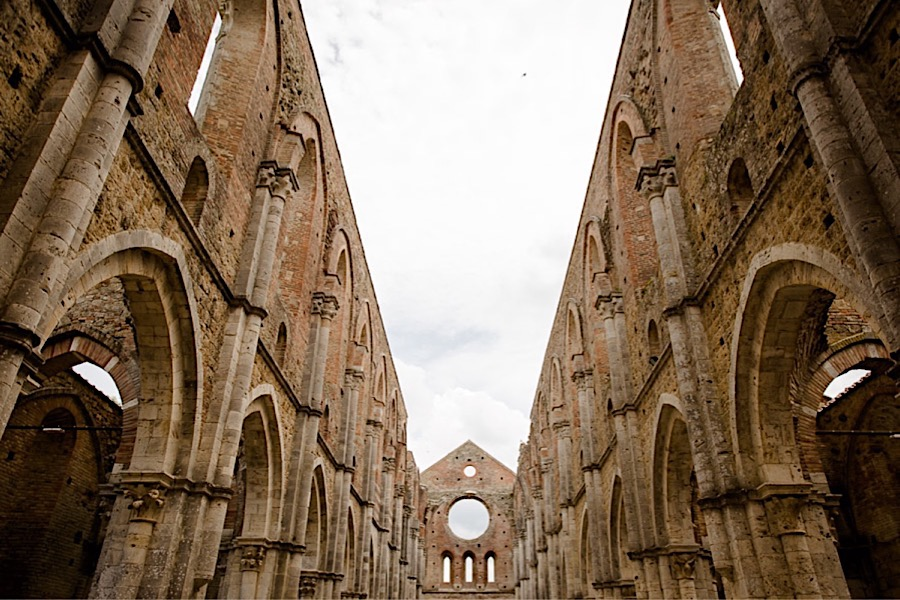 san galgano abbey roof photo