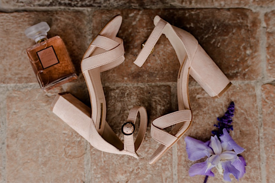 Bridal shoes still life