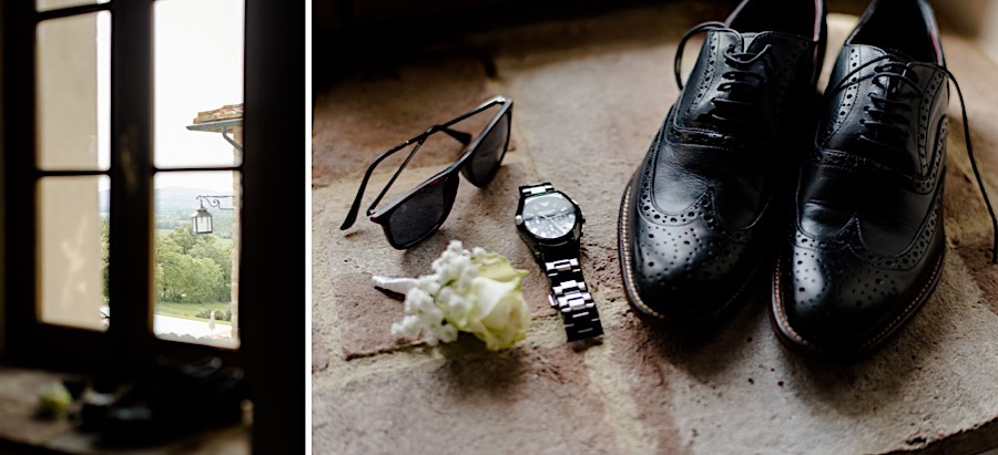 Groom details shoes watch sunglasses