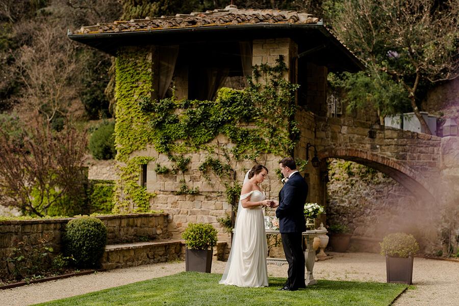 Ceremony elopement at Villa Le Fontanelle