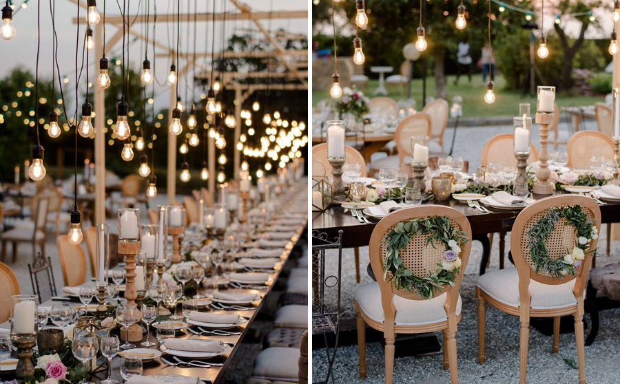 table setting lighting