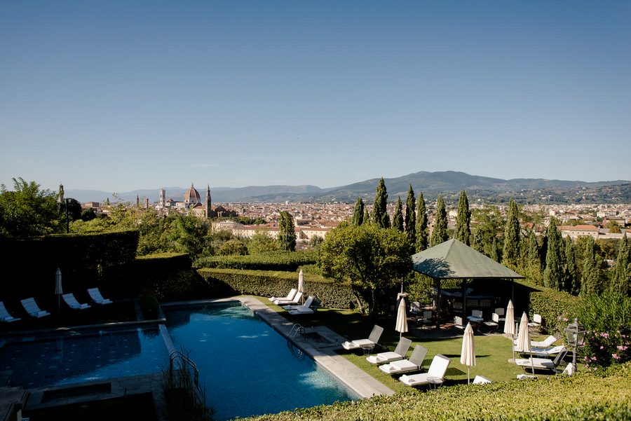 panoramic view of florence from villa la vedetta