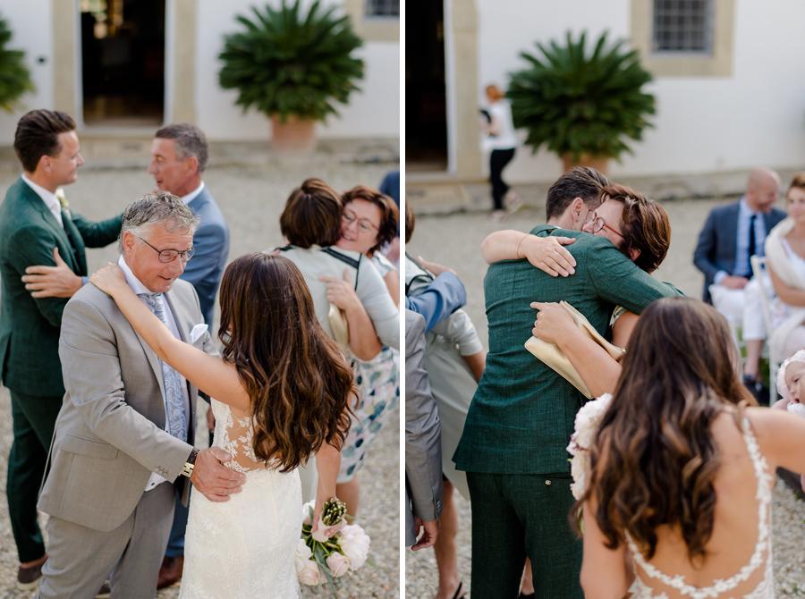 wedding ceremony at Tenuta di Pratello Country Resort greetings
