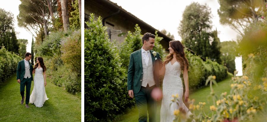 beautiful portraits of bride and groom at Tenuta di Pratello Country Resort