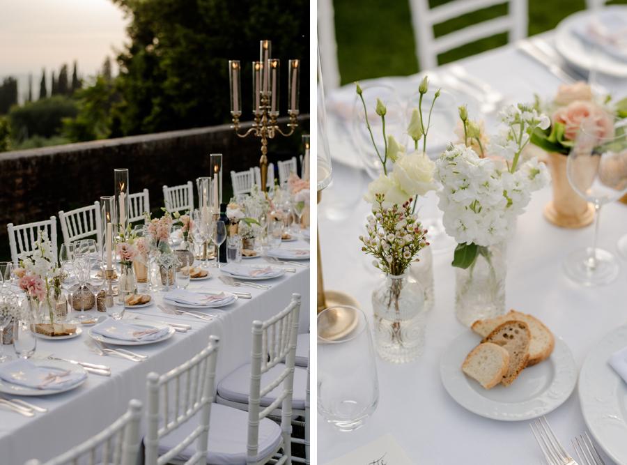 amazing wedding table set up