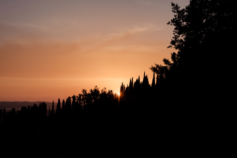 sunset at Tenuta di Pratello Country Resort