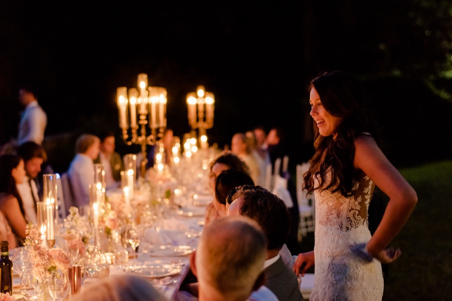 amazing candle lighting on the table at Tenuta di Pratello Country Resort