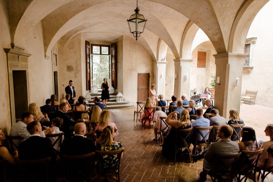 wedding ceremony at montegufoni castle