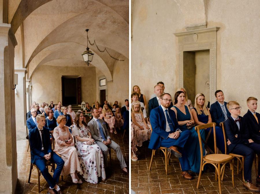 wedding guests montegufoni castle