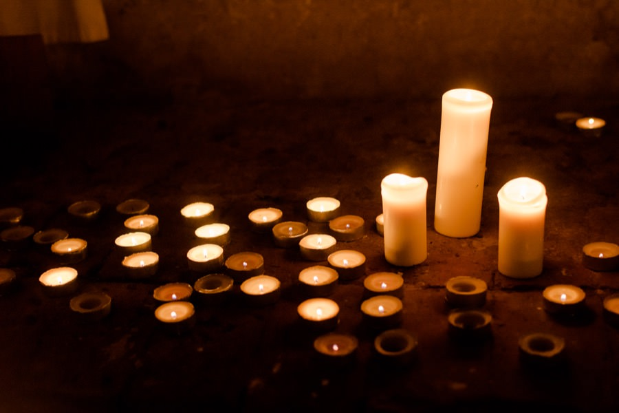 candles lighting details wedding