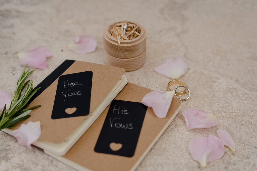 wedding vows books with wedding rings
