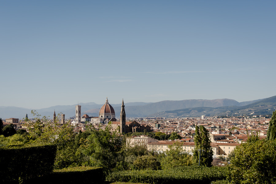 view from the terrace of villa la vedetta florence