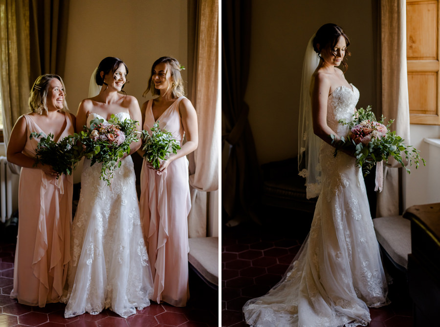 bride portrait with bridesmaids