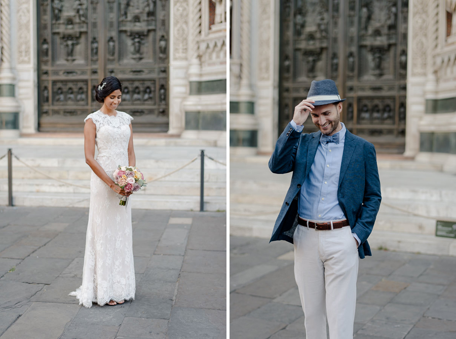 bride and groom portraits in florence