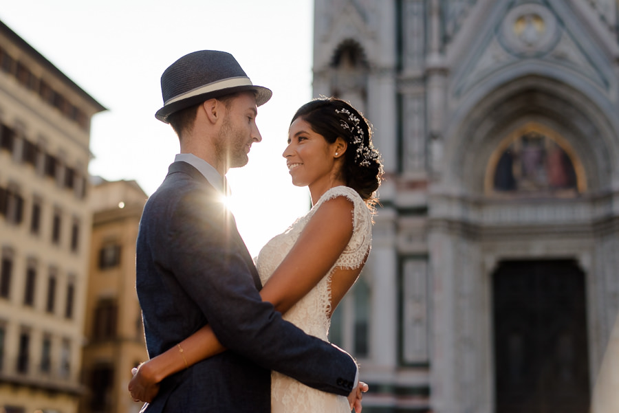wedding couple in florence