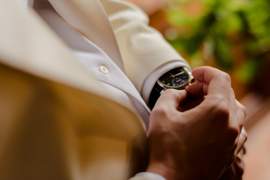 detail of the groom's watch