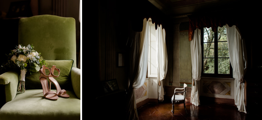Detail of the room of getting ready at Borgo stomennano