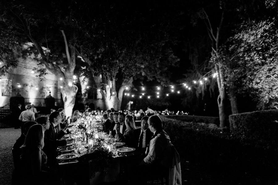 speeches during the wedding dinner