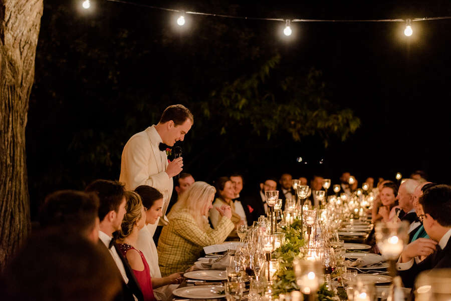 speeches during the wedding dinner