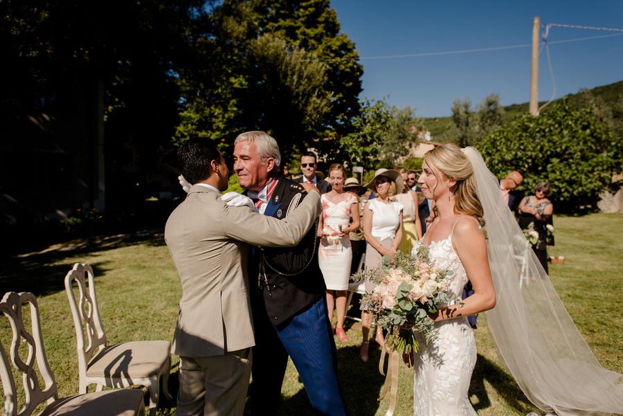 wedding ceremony at Borgo i Vicelli Florence