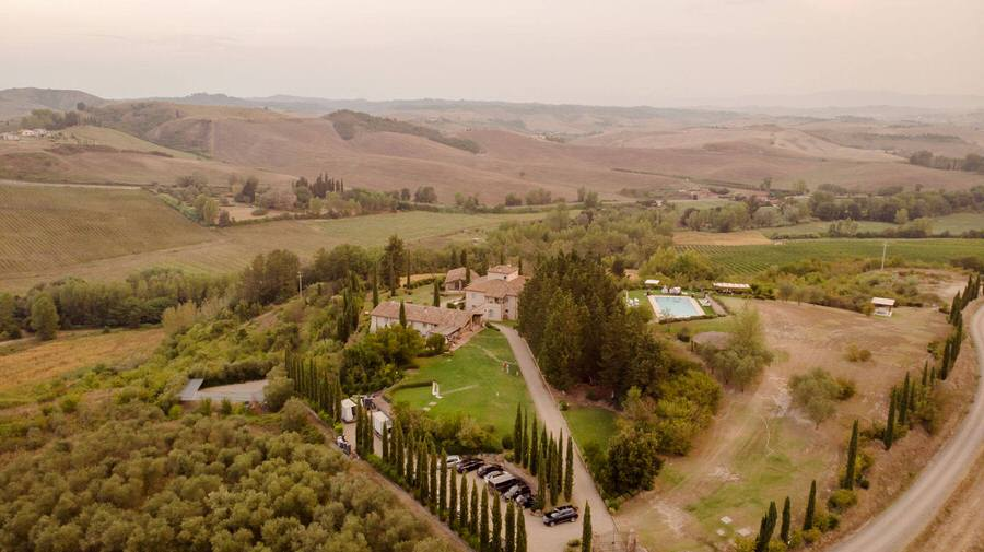 borgo della meliana view from the drone